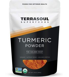 Terrasoul Superfoods Organic Turmeric Powder, 16 Oz