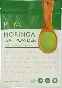 Kiva Organic Moringa Leaf Powder - Non-GMO and RAW