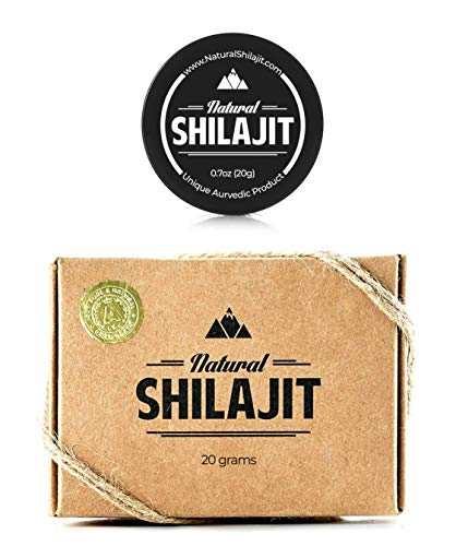 Natural Shilajit Resin 20gr (7% Fulvic Acid; 10.1% Humic Acid) - Top Quality Source of Organic, Plant-Based Nutrients for Energy, Weight Management, Libido and Vitality.